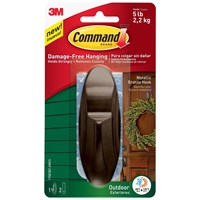 3M Command Seasonal Wreath Hook - Metallic  Bronze