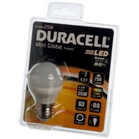 Duracell  LED Mini Globe Light Bulb - 4W ES