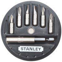 Stanley  Insert Bit Set: Phillips, Slotted, Pozidriv - 7 Piece