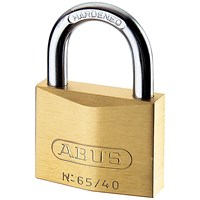 Abus  65 Series Brass Padlock - 25mm