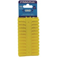 Rawlplug Uno Yellow Plug - 96 Pack