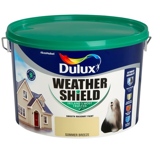 Dulux Weathershield Masonry Paint Colours - 10 Litre