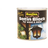 Rustins  Quick Dry Black Paint Satin- 250ml