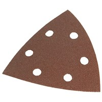 Faithfull  93mm Delta Hook & Loop Coarse Sanding Sheets TR2 - 5 Pack