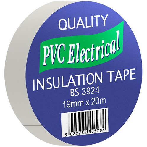 Quality PVC Insulating Tape White - 19mm x 20m