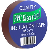 Quality PVC Insulating Tape Brown  - 19mm x 20m