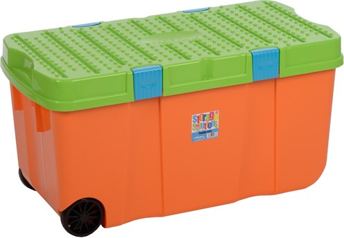 Wham Tuff Storage Box with Lid Orange Lime 100 Litre Storage
