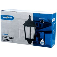 Powermaster  3 Sided Large Half Wall Lantern Black - 60W