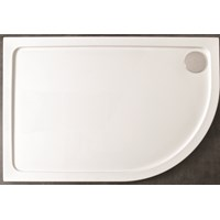 Kristal Low Profile Lefthand Offset Quadrant Shower Tray 1200x900mm