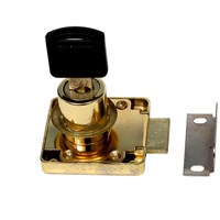 Phoenix  Brass Plated Cylinder Drawer Lock
