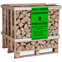 Independent Fencing  Kiln Dried Hardwood Firewood - 1.5m3 Crate