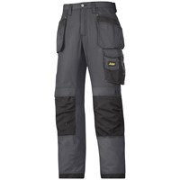 Snickers  3213 Craftsmen Rip-Stop Holster Pocket Trousers - Steel Grey/Black
