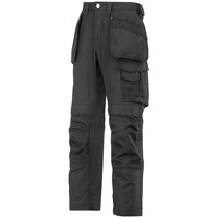 Snickers  3214 Craftsmen Canvas+ Holster Pocket Trousers - Black