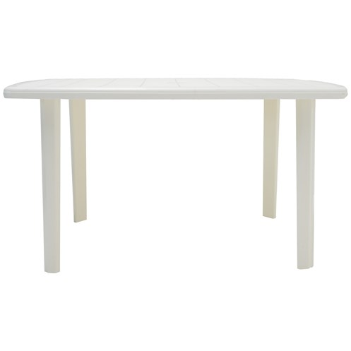 Culcita  Resin Rectangular Table - White