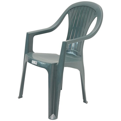 Culcita  High Back Resin Chair - Green