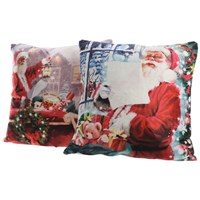 Lumineo  LED Lit Santa Cushion